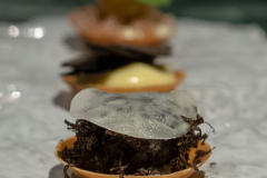 Grilled and pickled celeriac with truffles